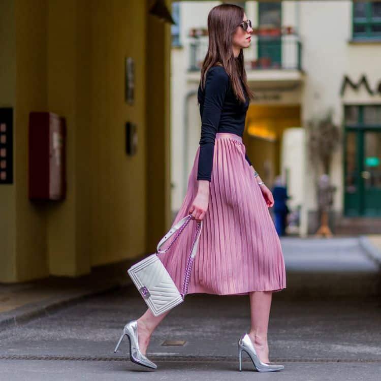 Quelle veste avec une jupe longue Plissee ?